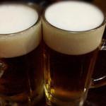 亀城苑 - ビールで乾杯☆