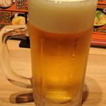 雪あかり - 生ビール 2014.11