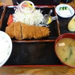 とんかつ末ひろ - 料理写真:上大蒜味噌豚カツ定食(1,460円)