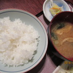 卯サギの一歩 - ごはん&お味噌汁&漬物