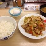 松屋 - 野菜炒め定食