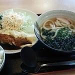 麺せい - 本日のランチわかめうどんとオムレツ(650円)