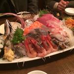 魚がし厨房 湊屋 - 刺身6点盛り1980円