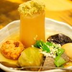 旬彩料理 GENKI屋 - でっかい大根のおでん盛り合わせ