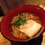 赤鶏農園 - ミニラーメン+250円 意外な節系
