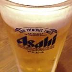 新・和歌山ラーメン ばり馬 - 生ビール[\490](税別)