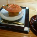 花隈 佐々木 - デザート(柿とぶどう)