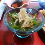 花隈 佐々木 - 菊菜と柿竹のおひたし