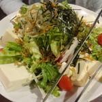 33357195 - じゃこと豆腐のサラダ