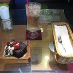 北隣館 Cafe Green - ガトーショコラとジンジャーエール(2014.07)