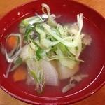 廻転ずし とっぴ~ - 定番「三平汁」(2014.12)