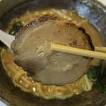 福家 - 赤コク味噌のチャーシュー(裏)
