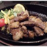 こま源 - 黒毛和牛の鉄板ステーキ ¥1,480(税込)
