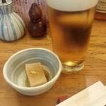 33368179 - 「生ビール」(500円)とお通し