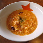 33368705 - Lunch Set≪Bセット:\1,220≫(海の幸たっぷり!!トマトクリーミーソース、2014年11月)