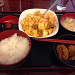 中華酒膳料理 龍源閣 - 麻婆豆腐定食(800円)。