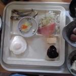 ホテルイン 鶴岡 - 朝食バイキング(盛付け一例)【2014年9月撮影】