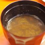 勝寿し - 味噌汁