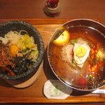 3339820 - まんぷくセット(ハーフ石焼ピビンバ&レギュラー冷麺)