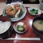 四季音 - カキフライ定食1000円
