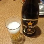 長寿庵 - 瓶ビール590円