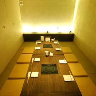 ~40名ご予約可!空間にこだわった完全個室もご用意。