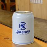お好み焼 みなと屋 - 本場ドイツのプレミアムビール、レーベンブロウ。