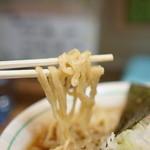 麺壱 吉兆 - 麺は平打ち