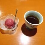 菜遊記 - カシスのシャーベットとコーヒー