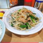 平和軒 - 肉ニラ炒め定食