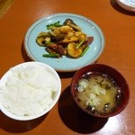 菜遊記 - 小エビとサツマ芋のピリカラトーチ風味炒め