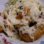 好味苑 - 好味苑 @本蓮沼 サラダが添えられる、マヨたっぷりんこの海老のフリッター