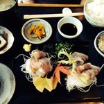 レストラン四季菜 - 鯵刺身定食