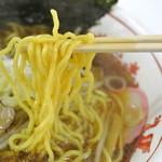 じょっぱり亭 - じょっぱり亭@米子天満屋催事・味噌ラーメン 麺近影(2014.11)