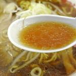 じょっぱり亭 - じょっぱり亭@米子天満屋催事・味噌ラーメン スープ(2014.11)
