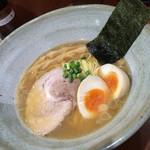 麺こい・わ - 中華そば+味玉 750円+サービス券 2014.12