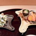 日本料理 百屋 - 食前酒と11月の前菜