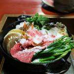 金谷 - 一回目の肉を食べると野菜を入れて二回目突入☆