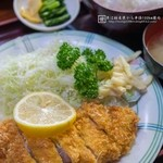 かどや - とんかつ定食(1,000円)ご飯大盛り