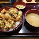 深川 - かき揚げ丼(1,800円)