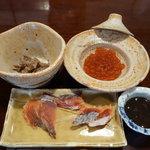 元祖鮭鱒料理 割烹 金大亭 - ともあえ・生筋子・寒塩引・メフンの塩辛  詳細はブログにて