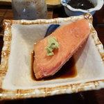 元祖鮭鱒料理 割烹 金大亭 - 鮭氷刺身(るいべ)
