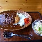 虎亀 - 料理写真:カツカレーセット(ドリンク付き)