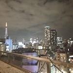 アジルジョーヌ・テラス - テラス席から麻布十番の夜景がやけいに綺麗❤