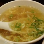 兆楽 - 玉子スープ