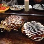 千房 - 長芋焼きと広島焼き