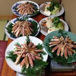 山村 - 焼き蟹、蟹すき