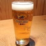 夢市茶屋 - 生ビール 410円。