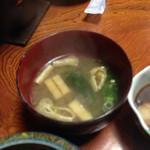 山村 - 朝食 味噌汁
