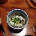 山村 - 朝食 鯛そば